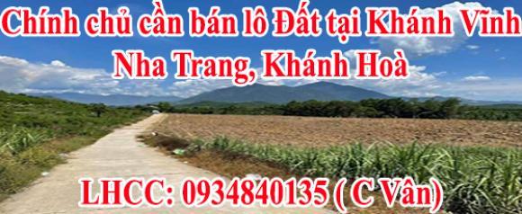 Chính chủ cần bán lô Đất tại Khánh Vĩnh,Nha Trang,Khánh Hoà.